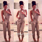 UK Womens Slim Evening Party Playsuit Ladies Romper Long Jumpsuit Size 6 -14