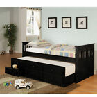 La Salle Captain's Bed with Trundle and Storage Drawers