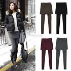Hot Women False two-piece Skirt Leggings Footless Cotton Stretch Long Pants