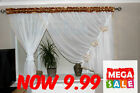 White Voile Net Curtain  Ready Made right or left side Bedroom Living Room New