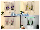 SALE White Voile Net Curtain with leaf Ready Made Bedroom Living Room New