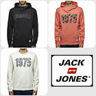 Mens Designer Jack & Jones Smart Floral Hooded & Crew Neck Sweatshirt Top Casual