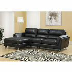 Monarch Specialties Bonded Leather Sofa Lounger