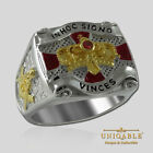 Knights Templar Ring Sterling Silver Masonic Cross Crown Gold Pld by UNIQABLE