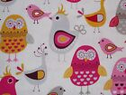Owls Birds Quilting Fabric Timeless Treasures Sewing Fat Quarter, By the Yard