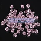 50pcs 6mm Bicone Faceted Crystal Glass Charms Jewelry Making Loose Spacer Beads