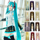 Vocaloid Hatsune Miku Show Ponytails Anime Cosplay Hair Wig (60~120cm) NEW