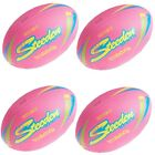 4 x Steeden Torpedo Beach Rugby Football [pink] [bulk pack] + Free Aus Delivery