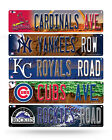 "MLB Baseball Plastic Street Sign 3.75"" x 16"" - Pick your team!! on Ebay"