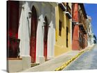 Premium Thick-Wrap Canvas Wall Art entitled Puerto Rico, Old San Juan, Row of