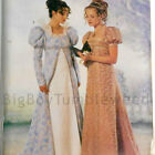 Sewing PATTERN BUTTERICK 6630 Empire Historical Regency Costume dress/coat gown