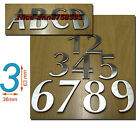 Hotel House Address Stainless Steel 0-9 Number & A B C D 63*36mm Self Adhesive