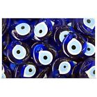 Poster Print Wall Art entitled Blue Turkish Evil eyes ceramic beads
