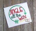 Youth Girl Christmas Jingle All The Way Arrow LS Holiday Shirt
