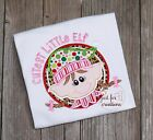 "Girl  Infant Toddler Christmas Elf Girl ""Cutest Little Elf"" LS Holiday Shirt"