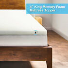 "4"" Uenjoy Comfort Select Memory Foam Mattress Topper -Twin Full King Size"