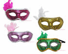 Mardi Gras Halloween Party Bling Sequin Face Eye Mask Kids Adult Costume Cosplay