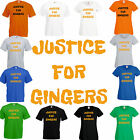 Justice for Gingers comic funny ginger hair joke T Shirt F