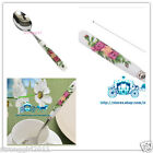 LOT 4/8PC famous Chinese porcelain printing design stainless steel souper spoon