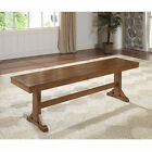 Antique Finish Wood Dining Bench