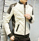 BRANDO Men's Stylish Motorcycle Jacket Winter Slim Fit PU Leather Coats Overcoat