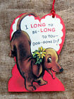 Hang Tags  RETRO I LONG TO BE YOUR VALENTINE DACHSHUND DOG TAGS #307  Gift Tags
