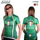 SPEG Ireland Womens Short Sleeve Cycling Jersey Full Zipper 100% Vapore® Green