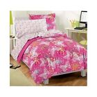 Bedroom Comforter Set 7Pc With Sheets Butterflies Pink Bed In A Bag Girls Teens