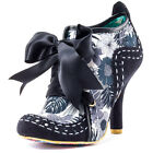 Irregular Choice Abigail 3rd Party Womens Fabric Black Floral Heels