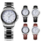 New Women's Crystal PU Leather/Stainless Steel Band Sport Quartz Wrist Watch