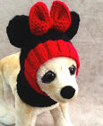 Pet Clothes Apparel Handmade Knit Outfit Minnie Mouse Hat for Small Dog