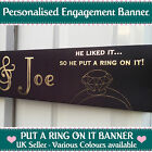 PERSONALISED ENGAGEMENT BANNER Put a ring on it Party Decoration - 18 Colours