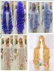 2015.New 150cm Long Curly cosplay full Heat-resistant wig Hair free Shipping New