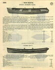 1929 PAPER AD Clinker Built Fishing Row Boat Minnow Float Traps Submarine Novety