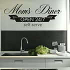 Moms Diner Kitchen Quote Wall Stickers, Home Vinyl Decal, Dining Room Decor kq22