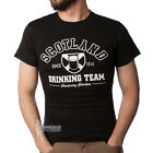 MEN'S PRINT T-SHIRT - SCOTLAND DRINKING TEAM - BLACK - SIZE OPTIONS!