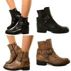Bottines Femmes Ankle Boots Cuir Classis Vintag MADE IN ITALY Biker Cheville 605