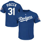 Mike Piazza Los Angeles Dodgers Name & Number Shirt w 2016 HOF Induction Patch
