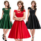 New Womens Vintage 40s 50s Style Retro Sexy Prom Party Swing Dresses