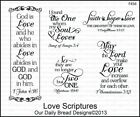 Our Daily Bread Designs Cling Stamp Set WEDDING BLESSINGS F457