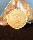 NA 1 Year Narcotics Anonymous Medallion Coin 1985 WSO Set Token Chip Clean Sober