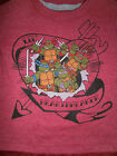 TMNT TEENANE MUTANT NINJA TURTLES LAYERED LOOK LIL HEARTBREAKER T-SHIRT NEW