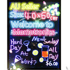 40 X 60CM LED Flashing Writing Board Restaurant Shop Menu Bundle Sign party New