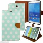 """PU Leather Folio Stand Cover Case For Samsung Galaxy Tab 4 10.1"""" SM-T530 Polka"""