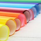 """HEAT TRANSFER VINYL BY THE YARD 20"""" WIDE EASY WEED 29 SOLID COLORS - THREADART"""