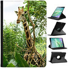 African Giraffe Folio Cover Leather Case For Samsung Galaxy Tablet
