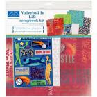 """Karen Foster 12x12"""" VOLLEYBALL IS LIFE Scrapbook Page Kit"""
