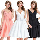 Sexy Womens 1950's Swing Vintage Retro Style Evening Dress Size S~XL