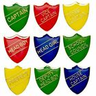 School Badges, Head Boy Girl, Prefect, School Council, Captain FREE POSTAGE