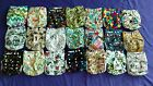 Lot of 21 New Unisex Tagless ALVA Cloth Pocket Diapers With Double Gussets